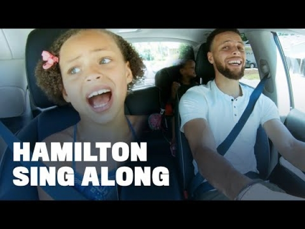 Stephen Curry Belts Out Hamilton with Daughters Riley and Ryan