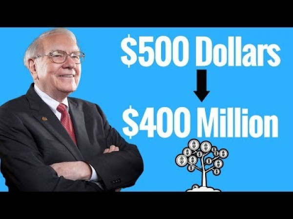 Warren Buffett How To Turn A $500 Investment Into $400M Dollars - SKIP TO 3:25